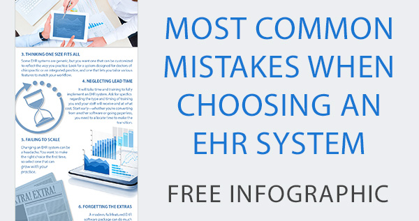 most common mistakes when choosing ehr system infographic