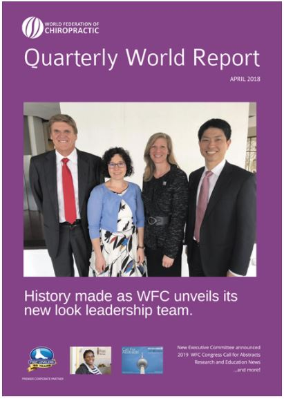 The World Federation of Chiropractic's Quarterly World Report