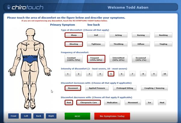 Chirotouch screenshot