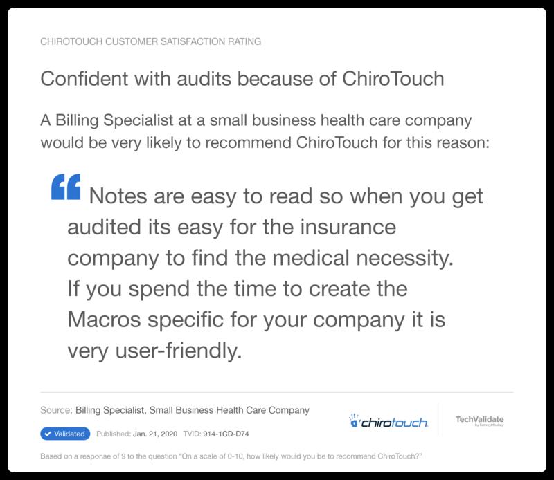 Audit Comfort
