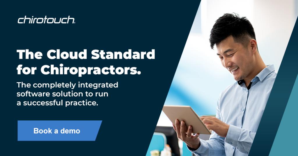 The cloud standard for chiropractors.